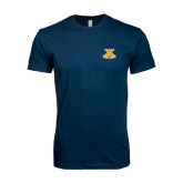 Next Level SoftStyle Navy T Shirt-NC A&T Aggies