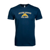Next Level SoftStyle Navy T Shirt-Aggie Pride