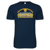 Next Level SoftStyle Navy T Shirt-2017 Celebration Bowl