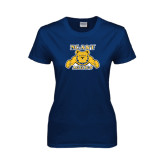 Ladies Navy T Shirt-NC A&T Aggies