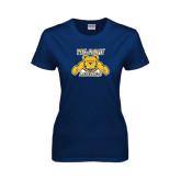 Ladies Navy T Shirt-NC A&T Aggies