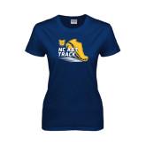 Ladies Navy T Shirt-Cross Country Sneaker