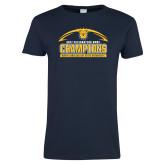 Ladies Navy T Shirt-2017 Celebration Bowl