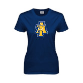 Ladies Navy T Shirt-AT