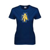 Ladies Navy T Shirt-AT