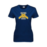Ladies Navy T Shirt-Track