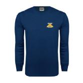 Navy Long Sleeve T Shirt-NC A&T Aggies