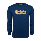 Navy Long Sleeve T Shirt-Softball Script