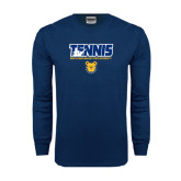 Navy Long Sleeve T Shirt-Tennis Player