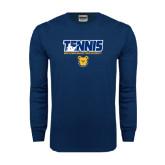 Navy Long Sleeve T Shirt-Tennis Player