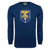 Navy Long Sleeve T Shirt-NC A&T Beat the Eagles