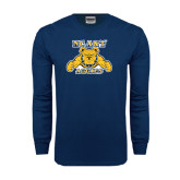 Navy Long Sleeve T Shirt-NC A&T Aggies