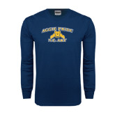 Navy Long Sleeve T Shirt-Aggie Pride