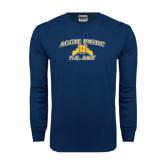 Navy Long Sleeve T Shirt-Aggie Pride