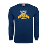 Navy Long Sleeve T Shirt-Track