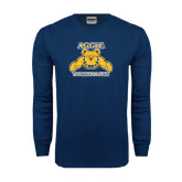 Navy Long Sleeve T Shirt-Volleyball