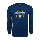 Navy Long Sleeve T Shirt-Basketball in Ball