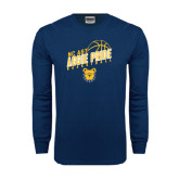 Navy Long Sleeve T Shirt-Basketball Pride