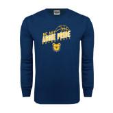Navy Long Sleeve T Shirt-Basketball Pride