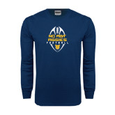 Navy Long Sleeve T Shirt-Tall Football