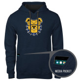 Contemporary Sofspun Navy Heather Hoodie-Bulldog Head