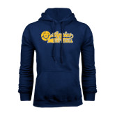 Navy Fleece Hood-Softball Script