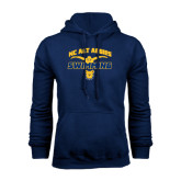 Navy Fleece Hoodie-Swim & Dive Butterfly Swimmer