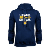 Navy Fleece Hoodie-Tennis Game Set Match