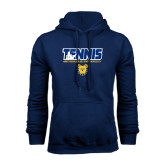 Navy Fleece Hoodie-Tennis Player