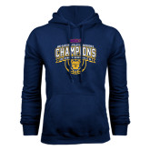 Navy Fleece Hood-2016 MEAC Champions Womens Basketball