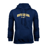 Navy Fleece Hoodie-Arched North Carolina A&T