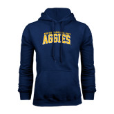 Navy Fleece Hoodie-Arched North Carolina A&T Aggies