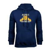 Navy Fleece Hood-Football