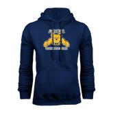 Navy Fleece Hood-Volleyball