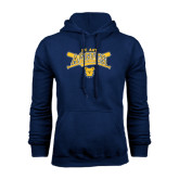Navy Fleece Hood-Baseball Crossed Bats