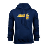Navy Fleece Hood-Baseball Bat
