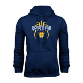 Navy Fleece Hoodie-Basketball in Ball