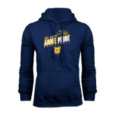 Navy Fleece Hoodie-Basketball Pride