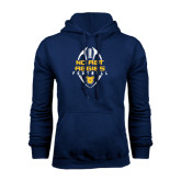 Navy Fleece Hoodie-Tall Football