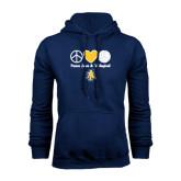 Navy Fleece Hood-Peace Love Volleyball