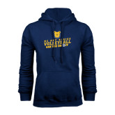 Navy Fleece Hood-Volleyball Can You Dig It