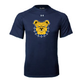 Under Armour Navy Tech Tee-Bulldog Head