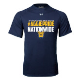 Under Armour Navy Tech Tee-#AggiePride Nationwide