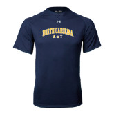 Under Armour Navy Tech Tee-Arched North Carolina A&T