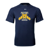 Under Armour Navy Tech Tee-Track