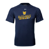 Under Armour Navy Tech Tee-Volleyball Can You Dig It