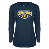 Ladies Syntrel Performance Navy Longsleeve Shirt-2017 Celebration Bowl