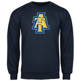 Navy Fleece Crew-AT