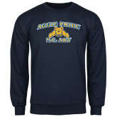 Navy Fleece Crew-Aggie Pride
