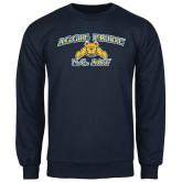 Navy Fleece Crew-Aggie Pride